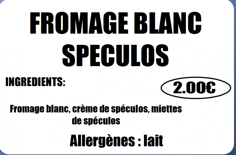 FROMAGE BLANC SPECULOS