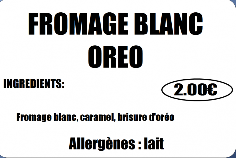 FROMAGE BLANC OREO